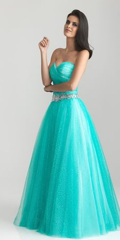 Love this Night Moves aqua prom dress