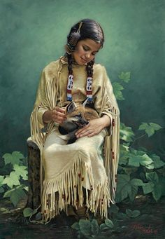 Native American Indian Art Prints | Safe and Serene -Native American Paintings by Karen Noles