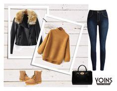 """""""Yellow High Neck Jumper"""" by nermina-okanovic ❤ liked on Polyvore featuring мода, Mulberry и yoins"""
