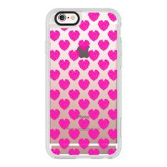 iPhone 6 Plus/6/5/5s/5c Case - Neon Hot Pink hearts valentines day... ($40) ❤ liked on Polyvore featuring accessories, tech accessories, iphone case, iphone hard case, iphone cell phone cases, apple iphone cases and neon iphone case
