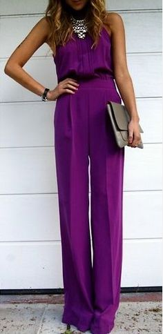 ce7335fa00f3  roressclothes clothing ideas  women fashion purple jumpsuit Purple Pants