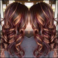 Kupfer Balayage Haare färben für Langes Haar | Haar Farben ...