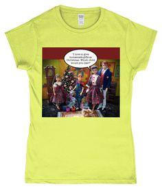 Funny, Ladies Xmas T-Shirt! I love to give homemade gifts at Xmas!