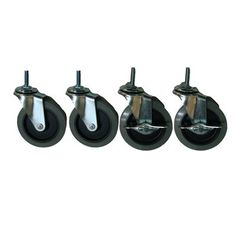Style Selections 4-Pack 4-in Plastic Swivel Casters
