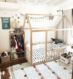 4 in 1 House Bed Montessori Hardwood Toddler, Twin, Full Bed With Removable Railings Made in USA Toddler Floor Bed, Toddler House Bed, Diy Toddler Bed, Floor Beds For Toddlers, Toddler Bedding Boy, Cama Montessori Ikea, Montessori Toddler Rooms, Floor Bed Frame, House Frame Bed