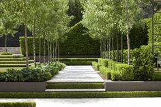 Classic French Garden by Peter Fudge Contemporary Garden Design, Modern Landscape Design, Garden Landscape Design, Modern Landscaping, Backyard Landscaping, Landscape Architecture, Formal Gardens, Small Gardens, Outdoor Gardens