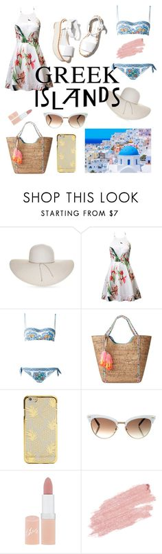 """""""Greek islands"""" by julietarequena on Polyvore featuring moda, Nine West, Dolce&Gabbana, Lilly Pulitzer, Paloma Barceló, Gucci, Rimmel, Jane Iredale, Packandgo y greekislands"""