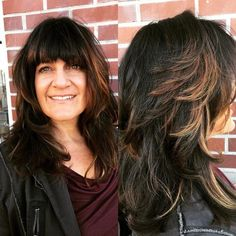 Layered Haircut With Bangs For Thick Hair