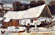 In Winter Close To My Heart, Old Houses, Folk Art, The Past, Tapestry, Christmas, Holiday, Retro, Winter