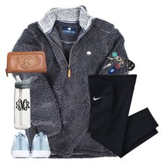 A fashion look from November 2015 featuring nike trainers, tory burch wallet and Southern Tide. Browse and shop related looks. Lazy Day Outfits, Cute Outfits For School, Cute Comfy Outfits, Preppy Outfits, Winter Fashion Outfits, Fall Winter Outfits, Teen Fashion, Womens Fashion, Fashion Trends