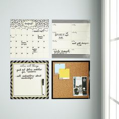 Dots & Stripes Dry Erase Calendar Command Center | The Container Store