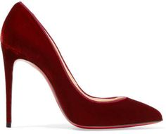 #affiliatead -- Christian Louboutin - Pigalle Follies 100 Velvet Pumps - Burgundy -- #chic only #glamour always