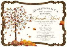Rustic Fall Baby Shower Invitation