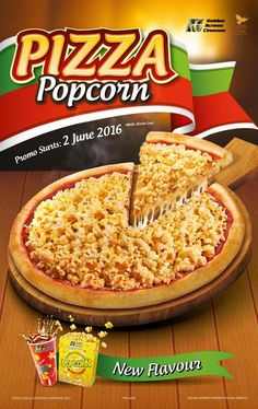 2-30 Jun 2016: Golden Screen Cinemas New Popcorn Flavour Pizza Popcorn