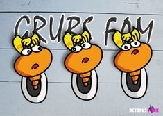 EX PLORA is part of the Grubs Family, not bitten yet ;) - Blogger, Vegan and kinda credulously #characterdesig #comicart #illustration Grubs, Octopus, Comic Art, Disney Characters, Fictional Characters, Character Design, Vegan, Illustration, Pink