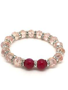 Pink Bracelet Agate bracelet stretching bracelet pink