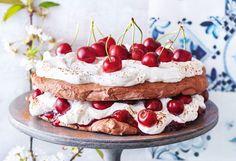 Kirschen-Pavlova Pavlova, Cheesecake, Vegan, Baking, Sweet, Desserts, Food, Cacao Powder, Chocolate