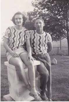 My Pretty Baby Cried She Was a Bird: Photo Friday: High School Sweethearts Edition-1951/ Matching tops