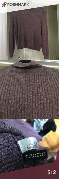H&M Purple Ribbed Turtleneck- L Marked as a large but would probably fit a medium better. Worn but in great condition! H&M Sweaters Cowl & Turtlenecks