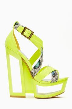 Neon Wedge Heels!!!
