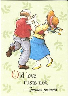 Old Love Rusts not German Proverb Fridge Magnet Artwork by Mary Engelbreit