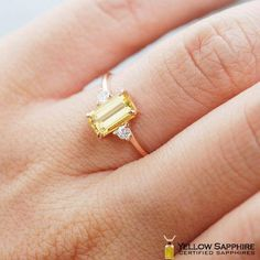 yellow sapphire ring, yellow sapphire engagement ring, yellow sapphire ring gold, yellow sapphire and diamond ring Natural Sapphire Rings, Yellow Sapphire Rings, Sapphire Band, Sapphire Jewelry, Garnet Rings, Sapphire Gemstone, Diamond Bands, Thin Gold Rings, Rings Online