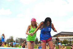 Climbing out of the jello pit with my little at our annual philanthropy event! TSM.