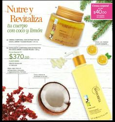 Exfoliate corporal más crema de coco-limón te dejara la piel suave y tersa
