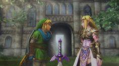 Hyrule Warriors - Link and Zelda