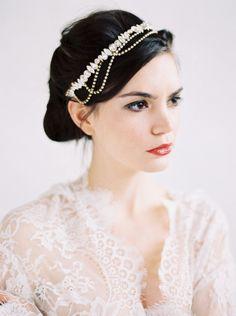 Updo with headband: http://www.stylemepretty.com/2014/05/27/modern-bridal-shoot-inspiration/ | Photography: Erich Mcvey - http://erichmcvey.com/