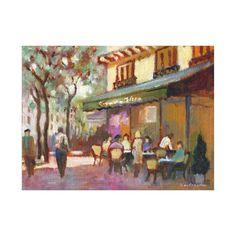 Paris Cafe Stretched Canvas Print Paris Gifts, Paris Cafe, Paris Theme, Vacation Pictures, Stretched Canvas Prints, Beautiful Moments, Wrapped Canvas, Canvas Art, Weaving