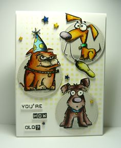 Crazy Dogs Birthday by dahlia19 - Cards and Paper Crafts at Splitcoaststampers