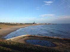 Tynemouth long sands beach 7.30 am 27 th March 2015 www.tynemouthwebcam.com