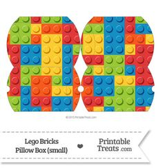 Small Lego Bricks Pillow Box--- https://www.pinterest.com/printabletreats/lego-theme-printables/