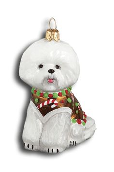 Bichon Frise gingerbread ornament