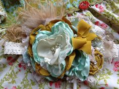 Southern Bell headband made to match Persnickety by CozetteCouture