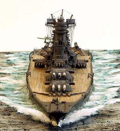 IJN Yamato 1/700 Scale Model