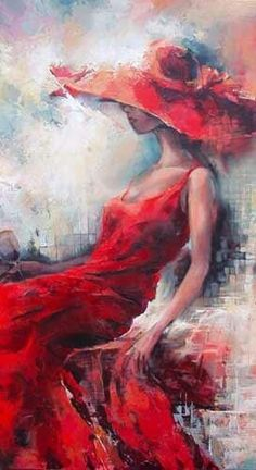 Lady in red by Elana Filatov