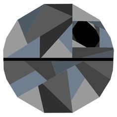 (7) Name: 'Quilting : Geometric Death Star Pattern