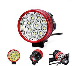 Gugou® Bike Light Headlamp 9T6 15000LM 3 Mode with 8.4v 12000mah 18650 battery pack  charger Cycling Bicycle flashlight 9*Cree XM-L T6 (Red) >>> To view further for this item, visit the image link.