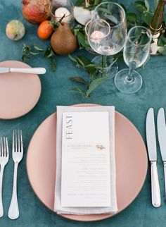 La Tavola Fine Linen Rental: Velvet Jade with Tuscany Natural Napkins | Photography: Michelle Beller, Venue & Catering: Ojai Valley Inn, Planning & Design: Bash Please, Florals: Honey and Poppies, Paper Goods: Aerialist Press, Rentals: Bright Event Rentals, Casa de Perrin and Found Vintage Rentals, Lighting: Bella Vista Designs