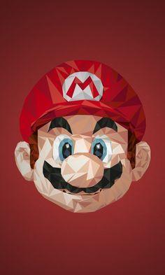 Personagens de vídeo-game feitos com formas triangulares