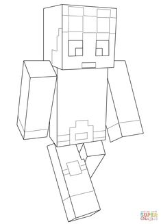Minecraft Dantdm Coloring Pages Printable And Book To Print For Free Find More Online Kids Adults Of