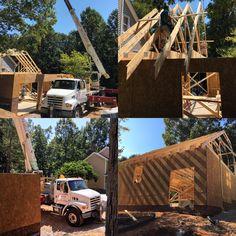 Framing Underway for Detached Garage