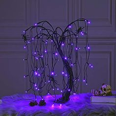 The Holiday Aisle Halloween LED Bonsai Night 80 Light Trees & Branches Color: Purple Room Ideas Bedroom, Bedroom Decor, Lighted Tree Branches, Tree Branch Decor, Halloween Bedroom, Halloween Night, Goth Home Decor, Diy Inspiration, Witch Decor