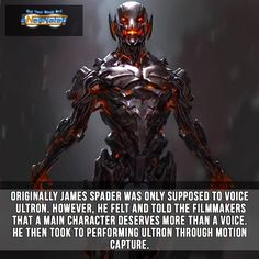 James Spader as Ultron Marvel Facts, Marvel Vs, Marvel Memes, Marvel Dc Comics, Comic Book Superheroes, Comic Book Characters, Comic Character, Superhero Facts, Superhero Movies