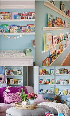 Children's Books On The Wall // Live Simply by Annie