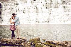 Waterfall Wedding Photos / Waterfall Engagement Photos / Make A Splash « Wedding Ideas, Top Wedding Blog's, Wedding Trends 2014 – David Tutera's It's a Bride's Life