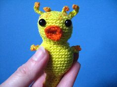 ADORABLE! Want!!  Hitchhiker's Guide to the Galaxy Babel Fish PDF Pattern on Etsy, $3.00