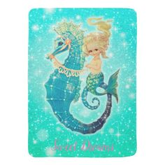 Shop Mermaid Sweet Dreams Baby Girl Blanket created by frostbytegraphics. Personalize it with photos & text or purchase as is! Sweet Dreams Baby, Mermaid Images, Personalized Baby Blankets, Personalized Gifts, Baby Mermaid, Soft Baby Blankets, Dream Baby, Sea Theme, Aqua Blue Color